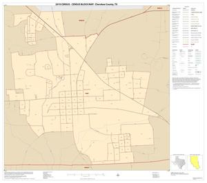 Primary view of object titled '2010 Census County Block Map: Cherokee County, Inset G01'.