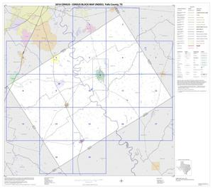 Primary view of object titled '2010 Census County Block Map: Falls County, Index'.