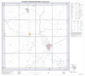 Primary view of object titled '2010 Census County Block Map: Young County, Index'.