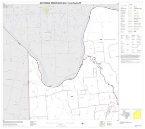 Primary view of object titled '2010 Census County Block Map: Fannin County, Block 4'.