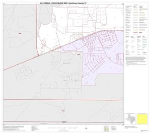 Primary view of object titled '2010 Census County Block Map: Hutchinson County, Inset C05'.