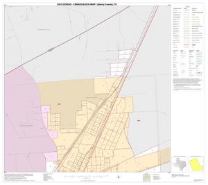 Primary view of object titled '2010 Census County Block Map: Liberty County, Inset A01'.