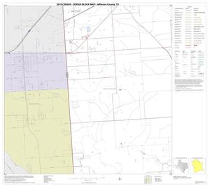 Primary view of object titled '2010 Census County Block Map: Jefferson County, Block 21'.