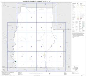 Primary view of object titled '2010 Census County Block Map: Real County, Index'.