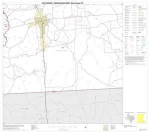 Primary view of object titled '2010 Census County Block Map: Rusk County, Block 18'.