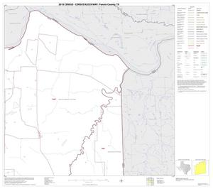 Primary view of object titled '2010 Census County Block Map: Fannin County, Block 3'.