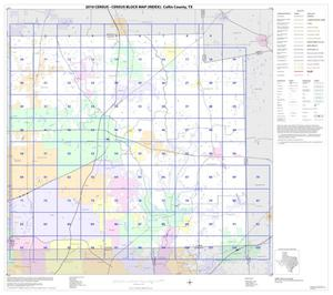 Primary view of object titled '2010 Census County Block Map: Collin County, Index'.