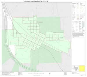 Primary view of object titled '2010 Census County Block Map: Wise County, Inset A01'.