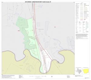 Primary view of object titled '2010 Census County Block Map: Hardin County, Inset E01'.