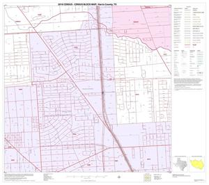 Primary view of object titled '2010 Census County Block Map: Harris County, Block 134'.