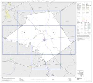 Primary view of object titled '2010 Census County Block Map: Mills County, Index'.