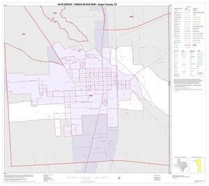 Primary view of object titled '2010 Census County Block Map: Jasper County, Inset B01'.
