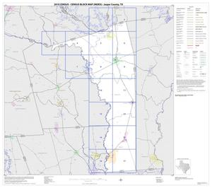 Primary view of object titled '2010 Census County Block Map: Jasper County, Index'.