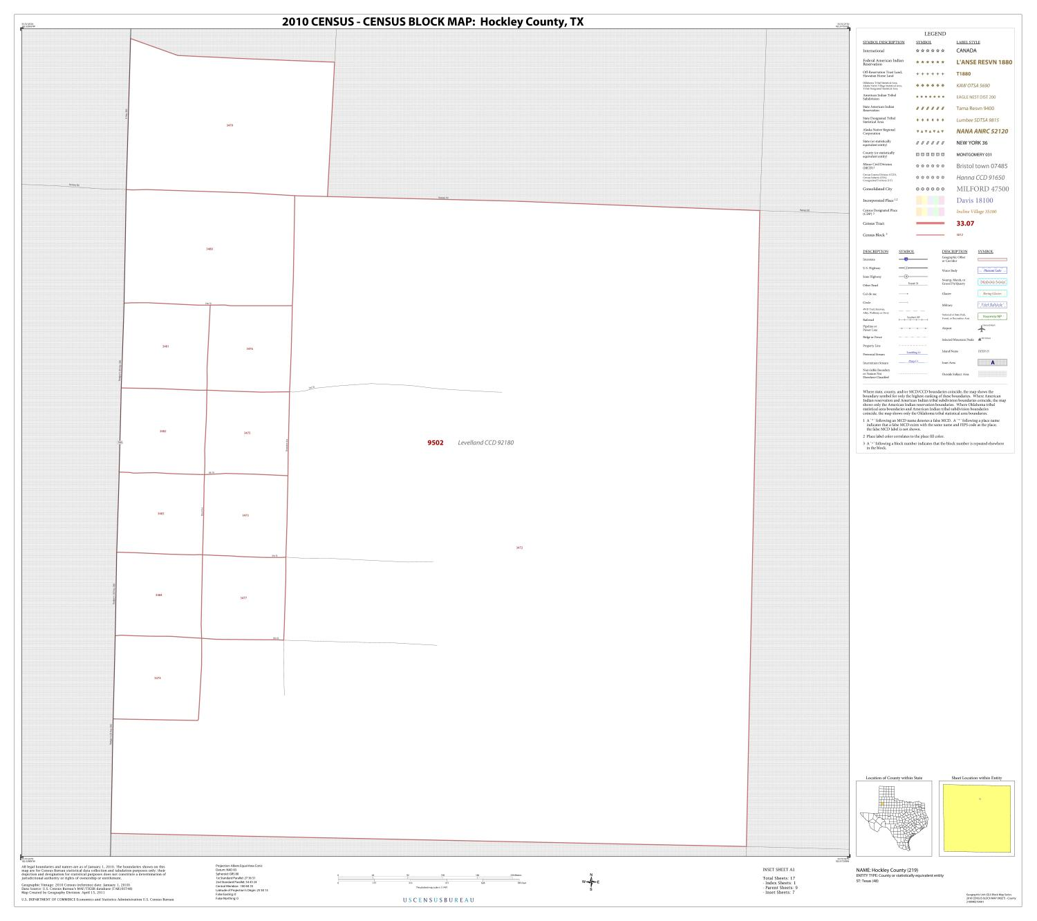 2010 Census County Block Map: Hockley County, Inset A01                                                                                                      [Sequence #]: 1 of 1