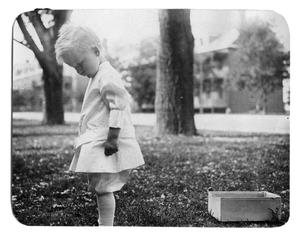 Primary view of object titled '[Child pulling box]'.