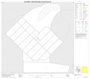 Primary view of object titled '2010 Census County Block Map: Hansford County, Inset A01'.