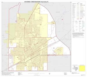 Primary view of object titled '2010 Census County Block Map: Gray County, Inset A01'.