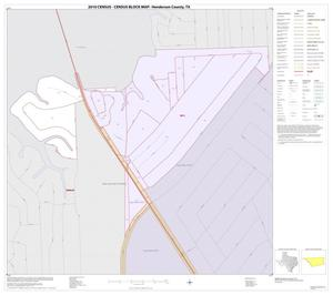 Primary view of object titled '2010 Census County Block Map: Henderson County, Inset D01'.