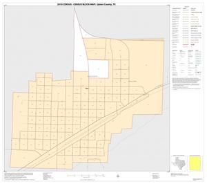 Primary view of object titled '2010 Census County Block Map: Upton County, Inset B01'.