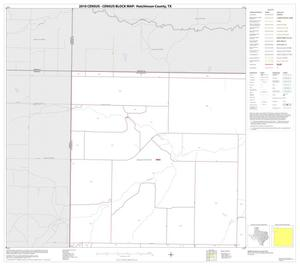 Primary view of object titled '2010 Census County Block Map: Hutchinson County, Block 1'.