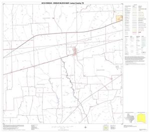 Primary view of object titled '2010 Census County Block Map: Lamar County, Block 16'.
