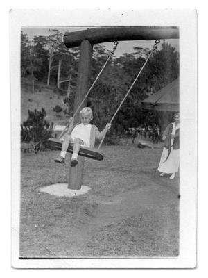 Primary view of object titled '[Child on a swing]'.