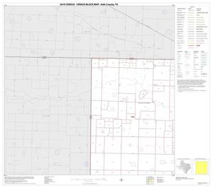 Primary view of object titled '2010 Census County Block Map: Hale County, Block 1'.