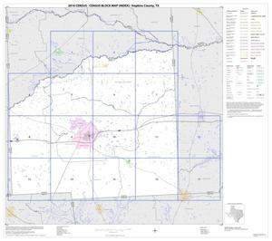 Primary view of object titled '2010 Census County Block Map: Hopkins County, Index'.