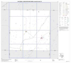 Primary view of object titled '2010 Census County Block Map: Hansford County, Index'.