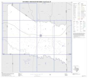 Primary view of object titled '2010 Census County Block Map: Foard County, Index'.