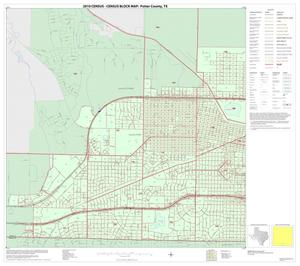 Primary view of object titled '2010 Census County Block Map: Potter County, Inset A02'.