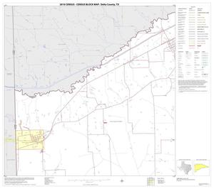 Primary view of object titled '2010 Census County Block Map: Delta County, Block 1'.