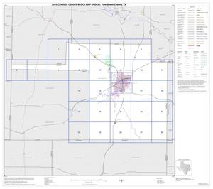 Primary view of object titled '2010 Census County Block Map: Tom Green County, Index'.