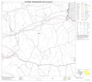Primary view of object titled '2010 Census County Block Map: Anderson County, Block 18'.