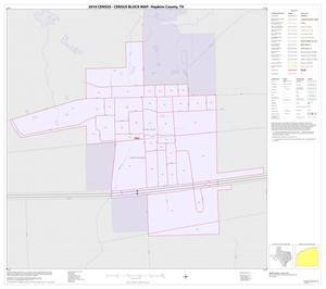 Primary view of object titled '2010 Census County Block Map: Hopkins County, Inset A01'.