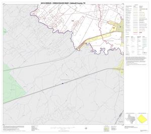 Primary view of object titled '2010 Census County Block Map: Caldwell County, Block 18'.