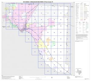 Primary view of object titled '2010 Census County Block Map: El Paso County, Index'.