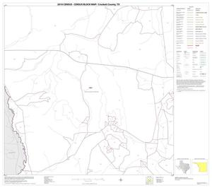 Primary view of object titled '2010 Census County Block Map: Crockett County, Block 10'.
