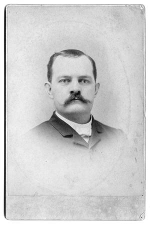 Primary view of object titled '[Man with mustache]'.