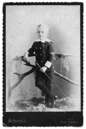 Primary view of object titled '[Boy wearing a sailor uniform]'.