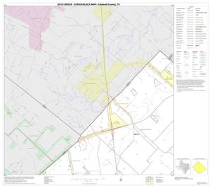 Primary view of object titled '2010 Census County Block Map: Caldwell County, Block 1'.