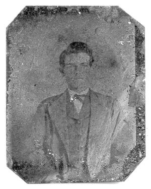 Primary view of object titled '[Young man wearing bow tie]'.