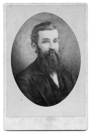Primary view of object titled '[Oval photograph of man with long beard]'.