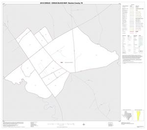Primary view of object titled '2010 Census County Block Map: Newton County, Inset B01'.