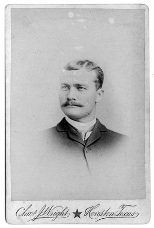 Primary view of object titled '[Young man with moustache]'.