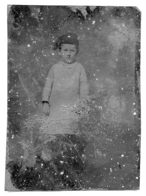 Primary view of object titled '[Child wearing hat]'.