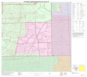 Primary view of object titled '2010 Census County Block Map: Denton County, Block 90'.