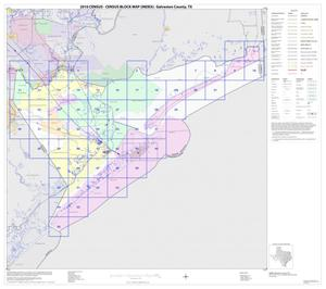 Primary view of object titled '2010 Census County Block Map: Galveston County, Index'.
