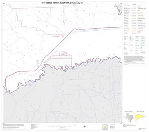 Primary view of object titled '2010 Census County Block Map: Delta County, Block 10'.