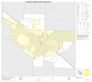 Primary view of object titled '2010 Census County Block Map: Bailey County, Inset B01'.